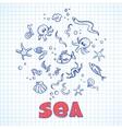 Sea life elements vector image vector image