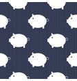 seamless pattern cute piggy art background design vector image vector image