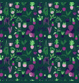 seamless pattern with house plants vector image vector image