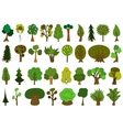 Set of cute doodle trees tree doodles isolated vector image vector image