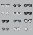 Set of realistic glasses vector image vector image