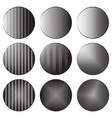 set of round banners with engraving shading vector image vector image