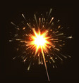 sparkler new year vector image