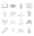sport library education and other web icon in vector image vector image