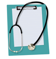 stethoscope on the blank vector image vector image