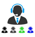 support manager flat icon vector image vector image