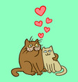 sweet enamored cats vector image vector image