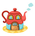 tea pot house vector image