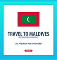 travel to maldives discover and explore new vector image vector image