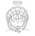 turkey hand-drawn vector image