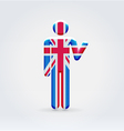 UK symbolic citizen icon vector image