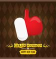 vintage funky cartoon santa claus like hand vector image