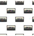 vintage stereo cassette tape seamless pattern vector image vector image