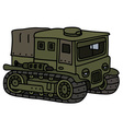 Vintage tracked transporter vector image vector image