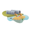 water pollution from industrial pipe vector image