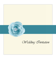 Wedding card invitation with pink rose ribbon