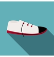 White boot icon flat style vector image vector image