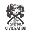 wilderness ax vector image vector image