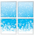 winter through a window vector image