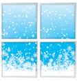 winter through a window vector image