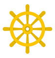 wooden ship wheel icon isolated vector image vector image