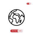 world planet icon vector image vector image