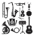 different monochrome pictures of musical vector image