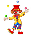 A clown juggling vector image vector image
