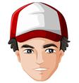 A mans head with a cap vector image