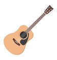 acoustic guitar flat icon music and instrument vector image vector image