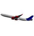 al 0436 plane 01 vector image vector image