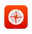 ancient compass icon digital red vector image