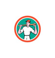 Baseball Player Holding Bat Cartoon vector image vector image