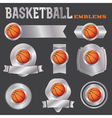Basketball Metal Banners and Badges vector image vector image