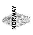 beautiful sites gentle people in norway text word vector image vector image