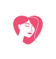 beauty logo design vector image