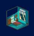 bedroom at night vector image