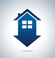 Blue house vector image vector image