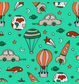 bright seamless pattern for design with car vector image vector image