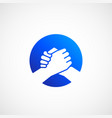 bro handshake abstract sign symbol or icon vector image
