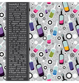 Card with bottles vector image vector image