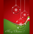 christmas balls - cut paper vector image vector image