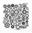 cogs - gears cog - gear symbol vector image vector image