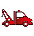 crane truck isolated icon vector image