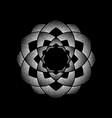 dots white circle mandala vector image vector image