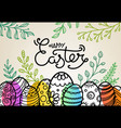 easter greeting card with traditional decoration vector image vector image