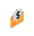 ecommerce business internet email bill money icon vector image