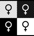 female gender symbol icon isolated on black white vector image vector image
