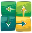 four green arrows vector image vector image