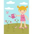 Gardening little Girl vector image